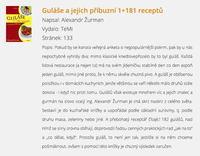 Guláše a jejich příbuzní 1+181 receptů
